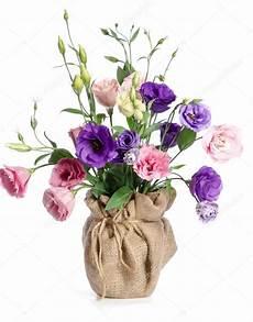 fiori vaso bellissimo mazzo di fiori eustoma in vaso di fiori