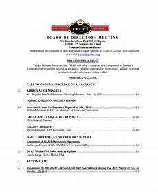 How To Write An Agenda For A Board Meeting Board Of Directors Meeting Agenda Template 8 Free Word