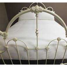 juliet size antique white cast iron powdered coated bed