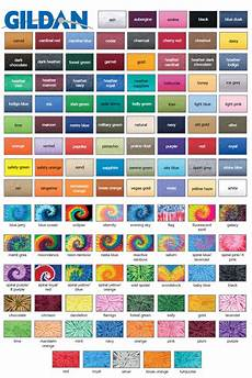 Gildan Shirt Color Chart Common T Shirt Brands Tee Blank Color Swatches Tee Fetch