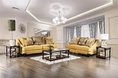 viscontti gold sofa and loveseat fabric living room sets