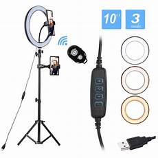 Ring Light Remote 10 Quot Led Ring Light With Stand And Phone Holder Mini Selfie