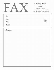 Fax Form Templates Free Fax Cover Letter Template