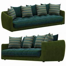 Large Sofa 3d Image by Roche Bobois Cocoon Large 3 Seat Sofa 3d Model For Vray