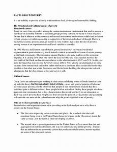 Poverty Essays Facts About Poverty Sample Essay