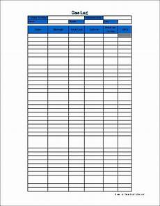 Gas Log Template Free Basic Gas Log From Formville