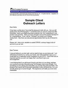 Community Outreach Cover Letters Sample Client Outreach Letters Enterprise Community Partners