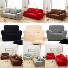 solid color polyester sofa cover high elasticity non slip