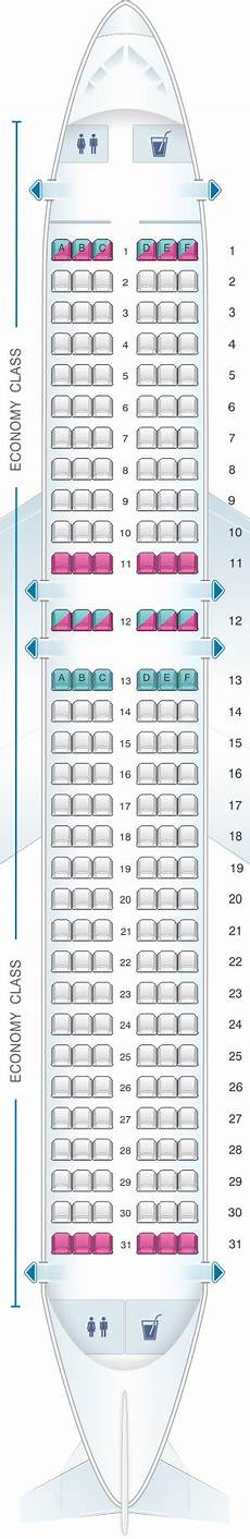 Airbus A320neo Seating Chart Seat Map Easyjet Airbus A320neo Seatmaestro