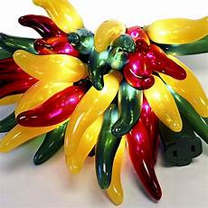 Chili Pepper Lights Fiesta Hots Chili Pepper Lights In Red Yellow Green