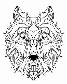 big wolf simple wolves coloring pages