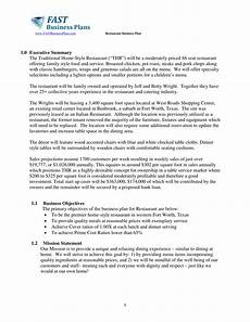 Restaurant Business Plan Examples Free 5 Restaurant Business Plan Forms In Pdf