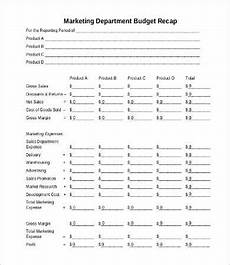 Department Budget Template Marketing Department Budget Template Departmental Budget