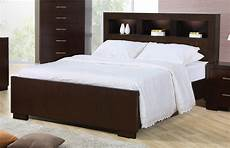 Queen Bookcase Headboard With Lights Queen Contemporary Bed With Storage Headboard And