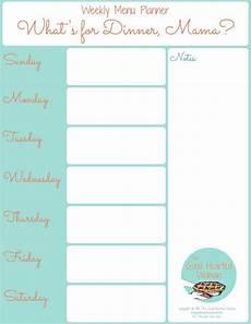 Weekly Menu Planning Template Printable Weekly Menu Planner The Good Hearted Woman