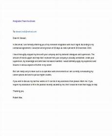Resignation Email Sample Free 18 Thank You Email Examples Amp Samples In Pdf Doc