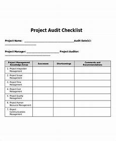 Project Management Audit Checklist 9 Project Checklist Examples Samples