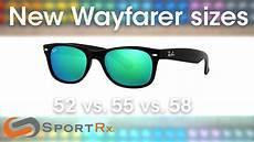 Wayfarer Sunglasses Size Chart Ray Ban New Wayfarer Sizes 52 Vs 55 Vs 58 Sportrx