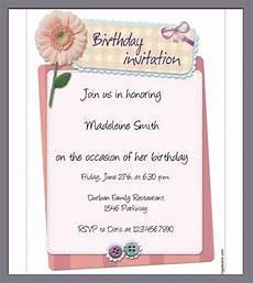 Birthday Invitation Letter Sample Birthday Invitation Template 40 Documents In Pdf