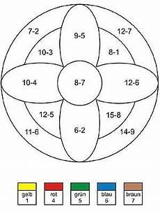 Ausmalbilder Grundschule Klasse 1 Rechenmandala Minusaufgaben Und Mathe 220 Bungsaufgaben 1