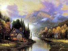 kinkade cottage painting wednesday kinkade