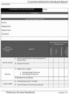 Customer Satisfaction Form Customer Satisfaction Feedback Form