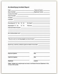 Workers Comp Incident Report Form This Sample Form May Be Used To Promptly Report Employee