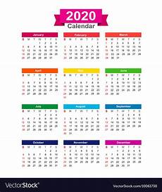 images for calendar 2020 2020 year calendar isolated on white background vector image