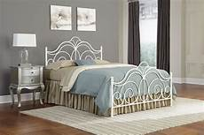 rhapsody metal headboard with curved grill design and