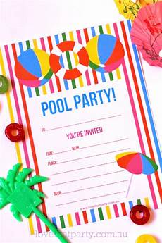 Pool Party Invites Free Printables Free Printable Summer Pool Party Invitation The Girl