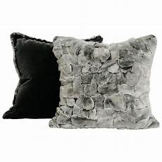 chinchilla style rex rabbit fur pillow for sale at 1stdibs