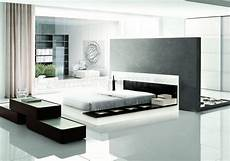 Black And White Modern Bedrooms Contemporary 5 Bedroom Set Impera Black White