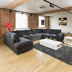large sofa set settee corner u l shape black