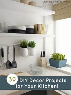 30 diy decor projects for your kitchen crafting a green