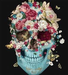 floral skull iphone wallpaper skull flowers by francisco valle for da back in 2019