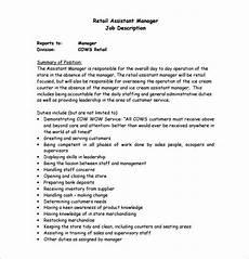 Job Description For A Shop Assistant Leasing Manager Job Description Mfacourses476 Web Fc2 Com