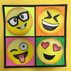 Easy Emoji Art Elements Of The Art Room 4th Grade Pop Art Emojis