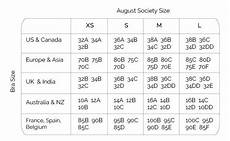 Bra Size Chart Us To India Size Guide August Society Singapore Swimwear Bikinis