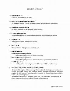 Project Summary Template 15 Project Summary Examples Pdf Doc Examples