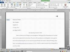 How To Mla Header Setting Up Mla Header With Microsoft Word 2010