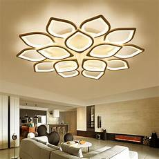 Decorative Hanging Light Fixtures Acrylic Flush Led Ceiling Lights White Light Frame Home