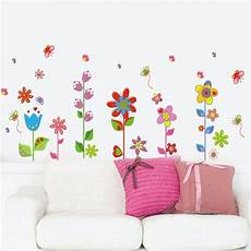 flower butterfly removable vinyl decal mural home