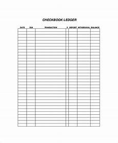 Check Ledger Free 9 Sample Checkbook Register Templates In Pdf Ms
