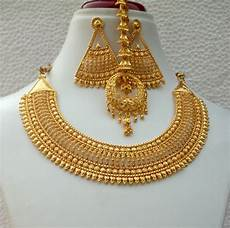 22k Gold Indian Jewellery Designs Indian 22k Gold Plated Bridal Necklace 8 Pendant