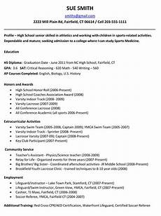 College Resume Examples For High School Seniors Example Resume For High School Students For College