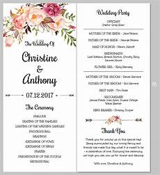 Program Template For Wedding Printing Your Program Template Front And Back Templett Blog