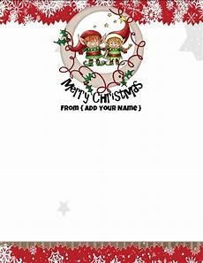 Holiday Letterhead Free Download Free Personalized Christmas Stationery
