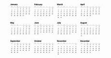 Year Month Calendar 12 Months Of The Year