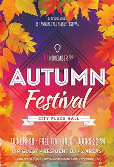 Flyers On Line Free Psd Flyer Templates For Autumn сelebration Party