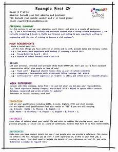 How To Write A Resume For A First Job Cv Template For First Job What Should I Put On My First Cv